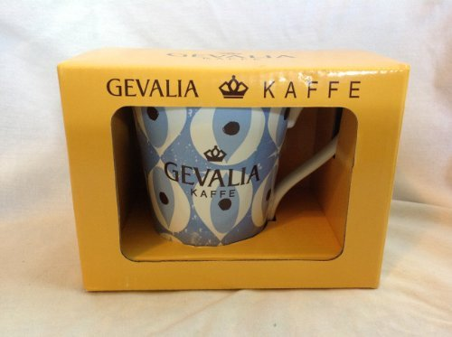 Gevalia Kaffe Coffee Cup Ceramic Mug Light Blue Artistic