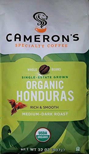 Camerons Specialty Coffee Organic Medium Dark Roast 32 Ounce Whole Bean Bag