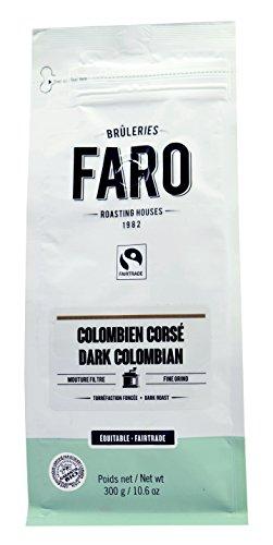 Faro Roasting House Dark Colombian Filter Grind Coffee 10oz Organic and Fair Trade 100 Arabica Dark Roast Bold Coffee - Fresh Ground Coffee 10 Ounce Bag