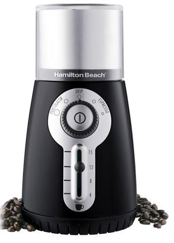 Hamilton Beach 80374 Custom Grind Hands-Free Coffee Grinder Black Discontinued