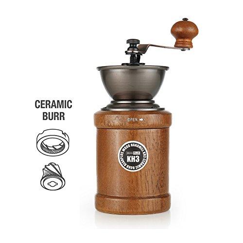 Beenplus Coffee GrinderManual Coffee Bean Grinder by Wooden Coffee Hand Mill KH3