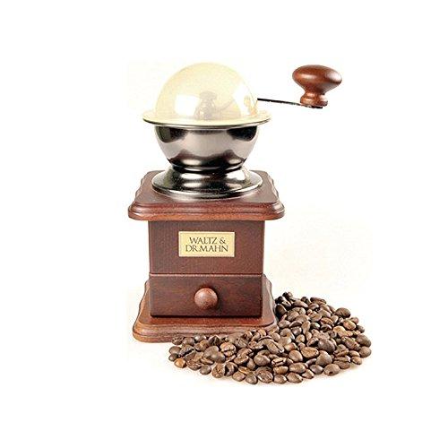 DrMahn Hinoki Japanese Cypress Wood Coffee Grinder Manual Coffee Bean Grinder by Wooden Coffee Hand Mill Japanese Cypress
