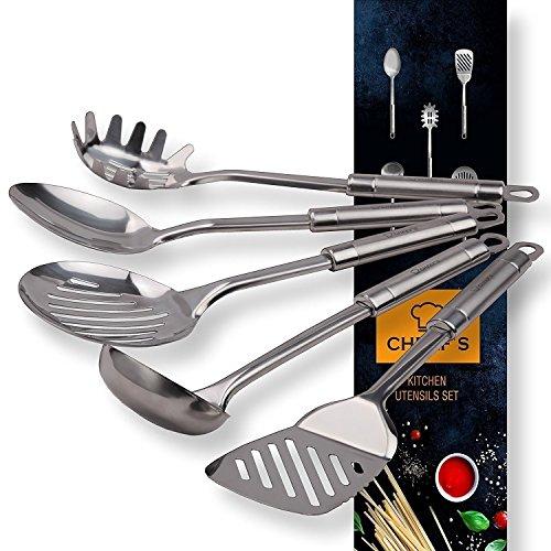 Stainless Steel Cooking Utensils Kitchen Utensil Set of Main Serving Spoons