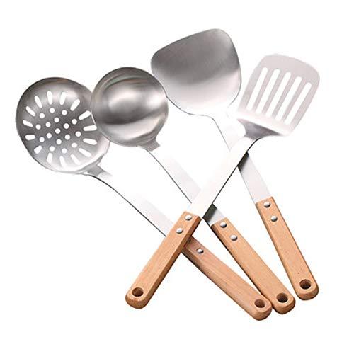 5-piece Kitchen Utensil Sets Kitchen Spatula Set Shovel Spoon Colander Full Set Of Household Stainless Steel Kitchenware