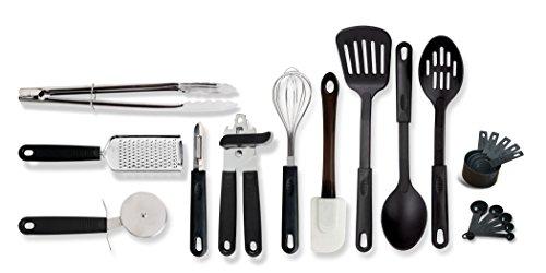 Gibson Home 9920220 Total 20 Piece Kitchen ToolGadget Prepare Serve Combo Set Black