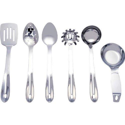 Maxam KTUT6 6 Piece Stainless Steel Kitchen Tool Set