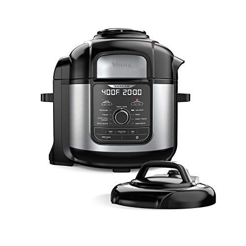 Ninja FD401 Foodi 8-qt 9-in-1 Deluxe XL Cooker Air Fryer-Stainless Steel Pressure Cooker 8-Quart