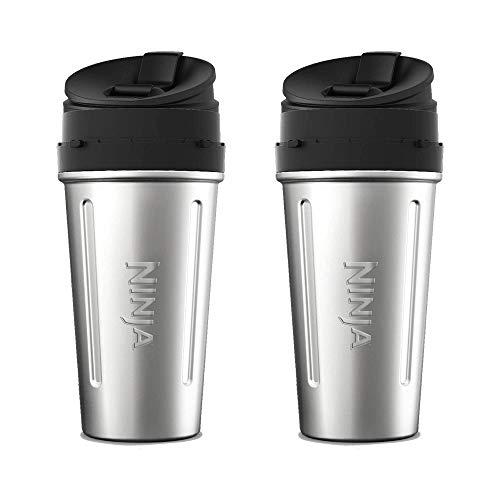 Ninja Stainless Steel Nutri Ninja Cup Sip Seal Lid for Auto-IQ Series 2 Pack
