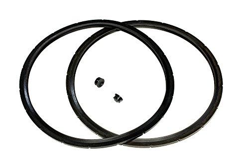 2-Pack of Presto Pressure Cooker Sealing Ring  Gasket Overpressure Plug 2 Sets per Pack - Fits Various 6-Quart Presto Models - Corresponds to 09936