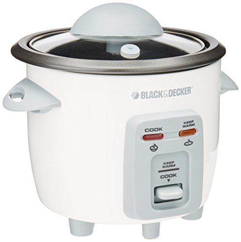Black Decker RC3203 3-Cup Rice Cooker White