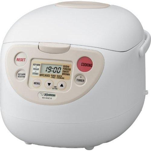 Zojirushi NS-WAC10WB Fuzzy Logic 55-Cup Rice Cooker and Warmer