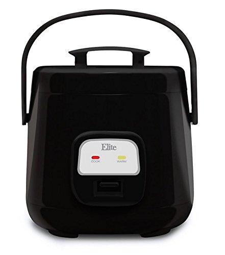 Elite Cuisine ERC-135B Maxi-Matic 4 Cup Mini Rice Cooker Black