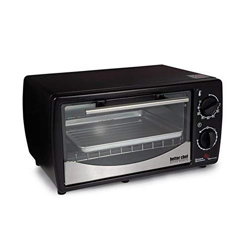 Better Chef IM-256B 9-Liter Toaster Oven Broiler Holds 4-Slices Black Home Garden