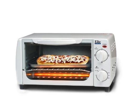 MaxiMatic EKA-9210W Elite Cuisine 4-Slice Toaster Oven Broiler White