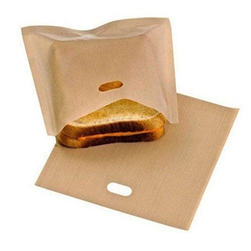 NeeJee Non-stick Toaster Bag Toastied Oven Sandwish Reusable Baking Pocket-Pack of 267 x 75