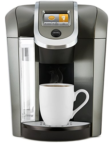 Keurig K575 Single Serve Programmable K-Cup Coffee Maker with 12 oz Brew Size and Hot Water on Demand Platinum