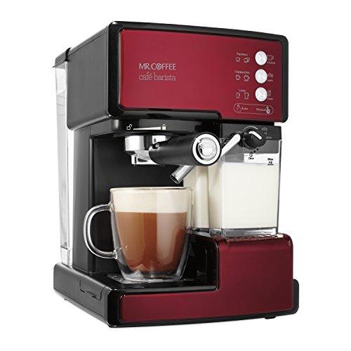 Mr Coffee Cafe Barista Espresso and Cappuccino Maker Red