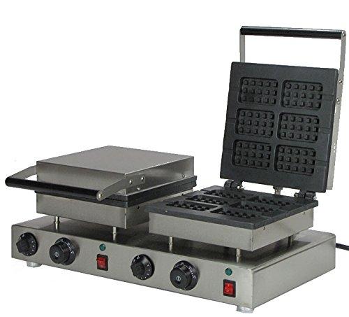 Generic Commercial Use Nonstick 110v 220v Electric Dual Belgian Waffle Stick Maker