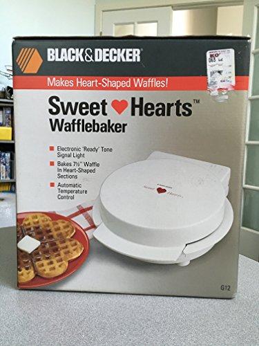 Black Decker Sweet Hearts Wafflebaker - Makes Heart-Shaped Waffles Model G12