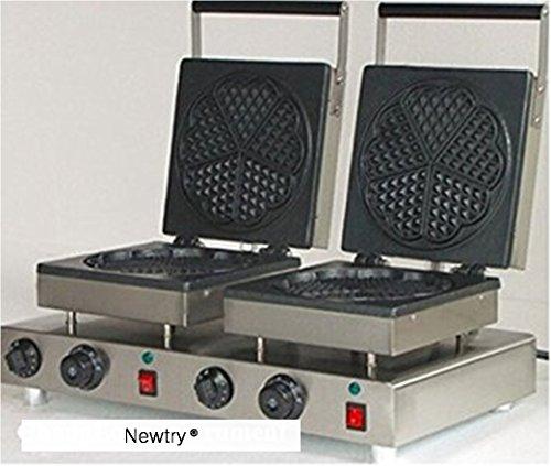 Newtry NP-584 Electric double head heart shaped waffle maker iron machine waffle Baker 110V