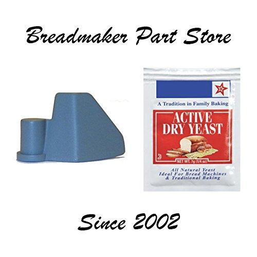 New Kneading Paddle for Breadman MODEL  TR520 aka QVC ITEM s K24198 K123551 Fast Bake Horizontal 20Lb Automatic Breadmaker Part Bread Maker Machine Dough Blade PN 34923 KneaderYeast Bundle