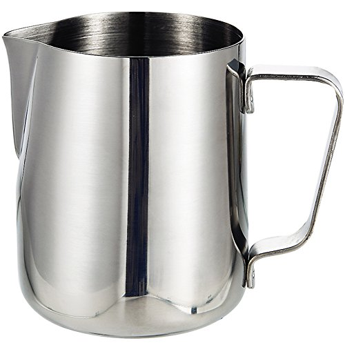 Milk Frothing Jug IdealHouse 12oz  350ml Japanese Type Thicken Stainless Steel Conical Pitcher Cup for Barista Cappuccino Espresso Coffee Cafe Latte Art