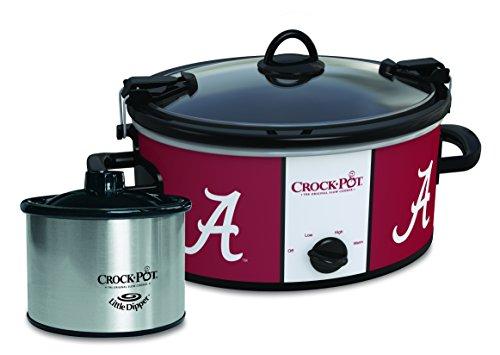 Alabama Crimson Tide Collegiate Crock-Pot Cook Carry Slow Cooker with Bonus 16-ounce Little Dipper Food Warmer