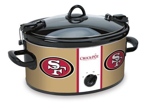 Crockpot Crock-Pot San Francisco 49ers Cook Carry Slow Cooker SCCPNFL600-SF Pack of 1 Red