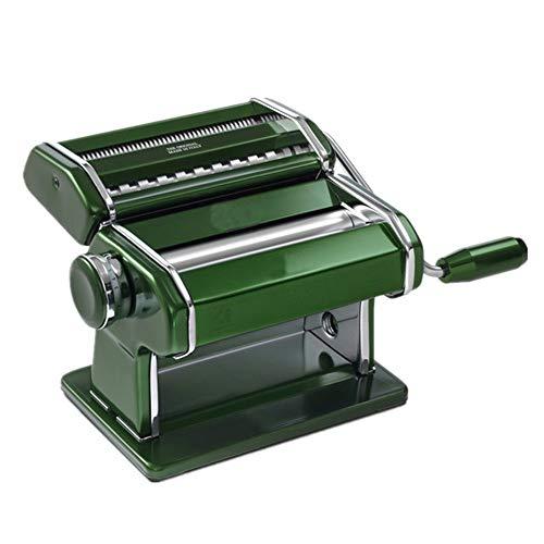 Ybriefbag-Home Pasta Machine Hand Crank Pasta Roller Machine Manual Noodle Maker Perfect for Make Fresh Spaghetti or Fettuccini Color  Green Size  Free Size