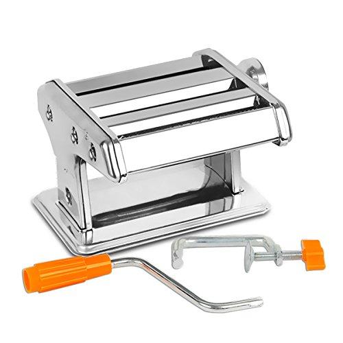 RRH Stainless Steel Pasta Maker Stainless Steel Roller for Fresh Spaghetti Fettuccine Linguine Lasagna Noodle Hand Crank Cutter Pasta Machine