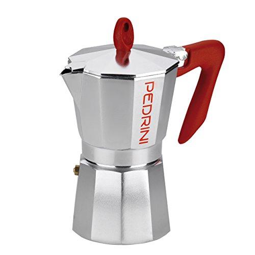 Pedrini 12 Cups Espresso Coffee Pot Polished Aluminium