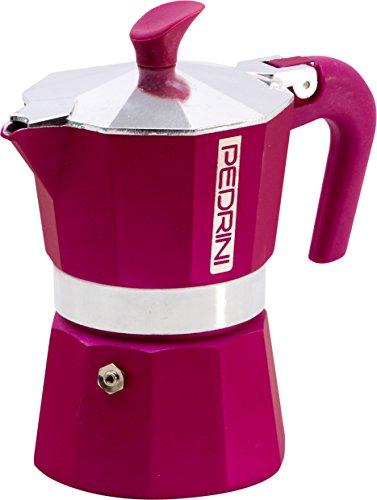 Pedrini 2 Cups Espresso Coffee Pot Red Colour