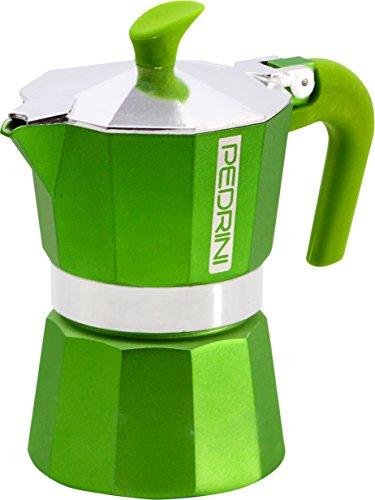 Pedrini 3 Cups Espresso Coffee Pot Green Colour