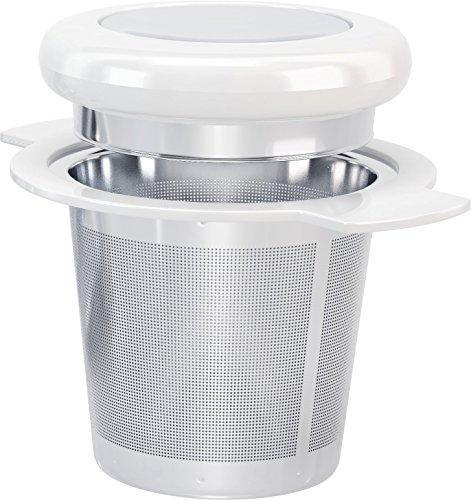 ultra fine loose leaf tea infuser with lid large capacity stainless steel tea strainer basket steeper wide - Strainer Basket