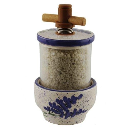 French Ceramic Sea Salt and Peppercorn Grinders - Lavender Design