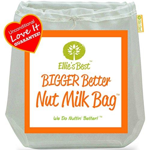 "Pro Quality Nut Milk Bag - Big 12""x12"" Commercial Grade - Reusable Almond Milk Bag & All Purpose Strainer - Fine"