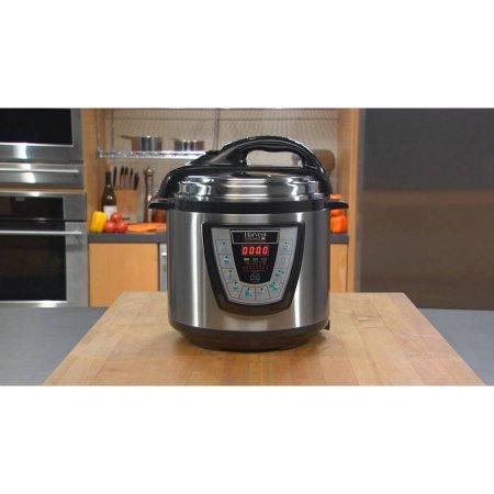 Harvest Cookware Electric Original Pressure Pro 6-Quart Pressure Cooker Black