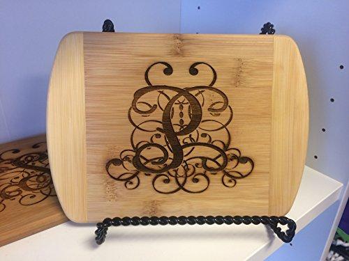 Custom Wooden Engraved Mini Cutting Board Wooden Engraved Monogram Initial Mini Cutting Board