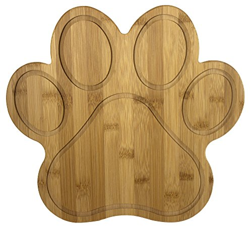 Totally Bamboo 20-7616 Paw Shaped Bamboo Serving And Cutting Board 11 x 10 Natural