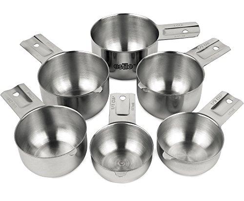 Estilo Premium Grade Stainless Steel Measuring Cups - 6 Piece