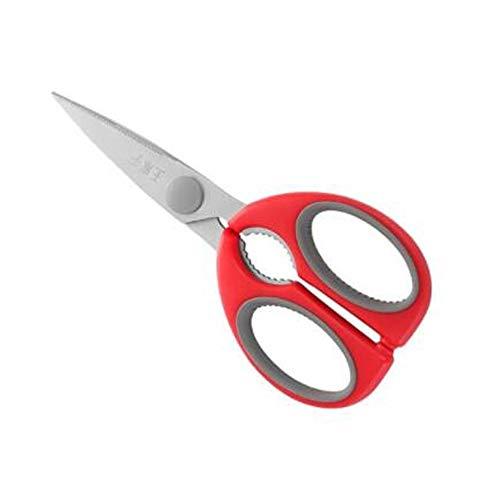 LKSPD Scissors Kitchen Scissors Bone Cutting Knife Scissors Multi-function Walnut Clip Stainless Steel Kitchen Scissors Red Kitchen scissors