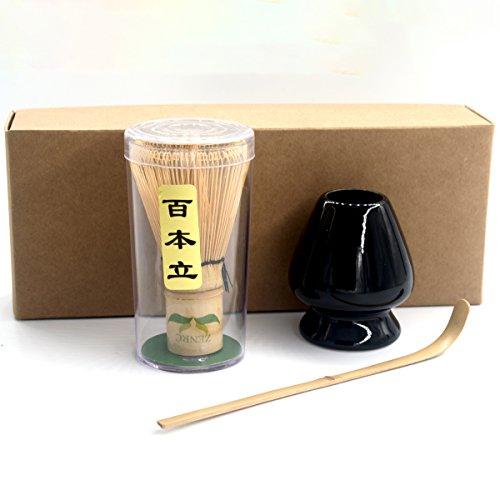 Natural Bamboo Japanese Chasen  Matcha Whisk  Scoop and whisk holder set Japanese Tea Ceremony Giftset