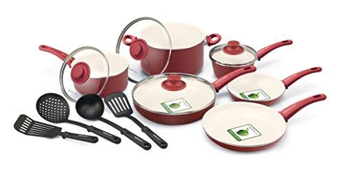 GreenLife Soft Grip 14pc Ceramic Non-Stick Cookware Set