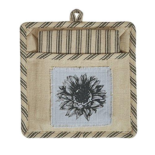 Park Designs Sunflower Garden Pocket Potholder Set 1 Potholder 1 Dishtowel