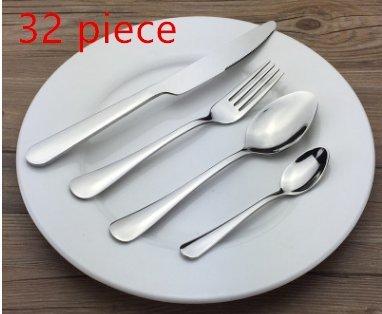 Flatware Sets Stainless Steel Silverware Cutlery Set 32pcs Kitchen Flatware Tableware Dinnerware Set