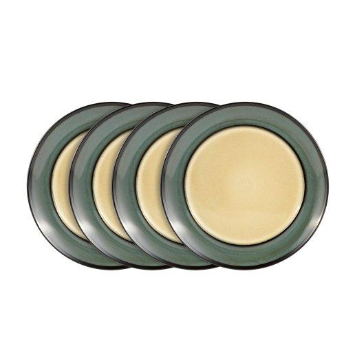 Gourmet Basics Belmont Blue Dinner Plates 10-12-Inch Set of 4
