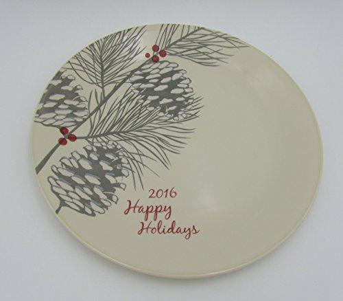 "Corelle Livingware Happy Holidays 2016 Christmas Limited Edition Sandstone 1025"" Plate"