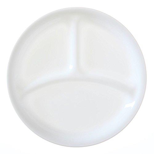 "Corelle Livingware Winter Frost White 85"" Divided Lunch Plate Set of 12"