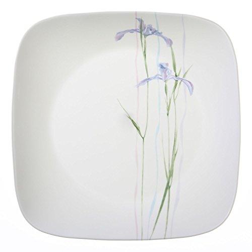 "Corelle Square Shadow Iris 1025"" Dinner Plate Set of 8"