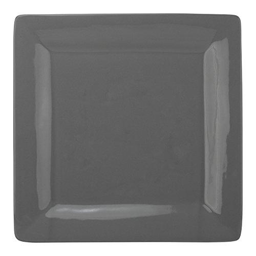 10 Strawberry Street Wazee Square - 10 Dinner Plate - Set of 6 - Gray
